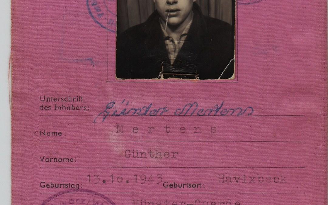 Mein Spielerpass von 1960